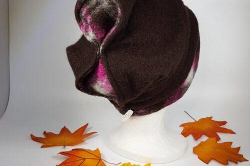 Mütze mit Schleife braut-violett