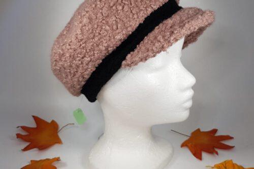 Dachmütze rosa-schwarz