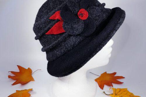 Hut mit Krempe dunkelgrau