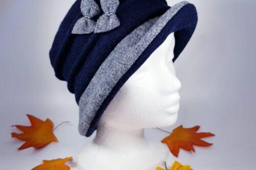 Hut mit Krempe dunkelblau-grau